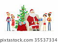 Children and Santa Claus - cartoon characters 35537334