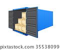cargo container vector 35538099