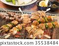 日式烤雞串 雞肉烤串 烤肉串 35538484