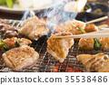日式烤鸡串 鸡肉烤串 串烤 35538486