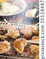 日式烤雞串 雞肉烤串 烤肉串 35538487