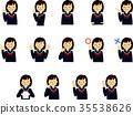 学生女高中生高中学生水手制服面部表情手势集 35538626