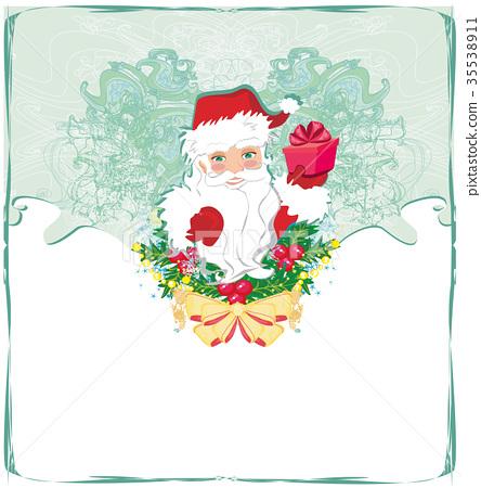 Christmas card with Santa Claus 35538911