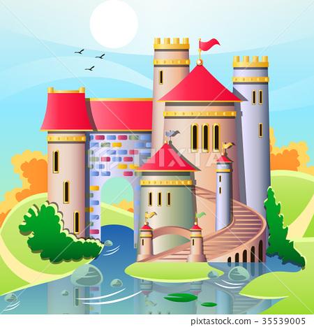 Illustration of a cute castles 35539005
