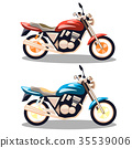 Motorcycle icons set in flat style. 35539006
