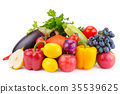 fruit and vegetable isolated on white background 35539625