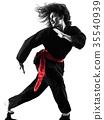 woman Kung Fu Pencak Silat isolated 35540939
