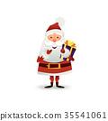 Santa, gift, present 35541061