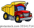 Dump Truck Tipper Cartoon 35541714
