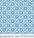 Traditional scandinavian pattern. Nordic ethnic 35542100