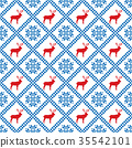 Traditional scandinavian pattern. Nordic ethnic 35542101