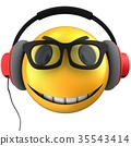 3d yellow emoticon smile 35543414
