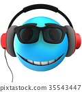 3d blue emoticon smile 35543447