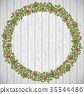 christmas, wreath, berries 35544486