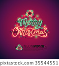 Merry Christmas Colorful Neon Sign 35544551