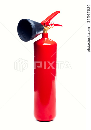 Image of red fire extinguisher 35547680