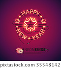Happy New Year Red Neon Sign 35548142