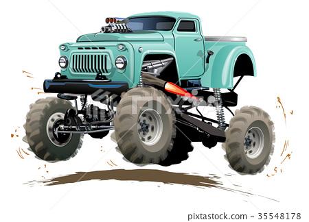 Cartoon Monster Truck 35548178