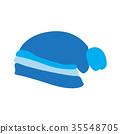 Winter hat icon 35548705
