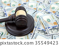 judge gavel and money 35549423