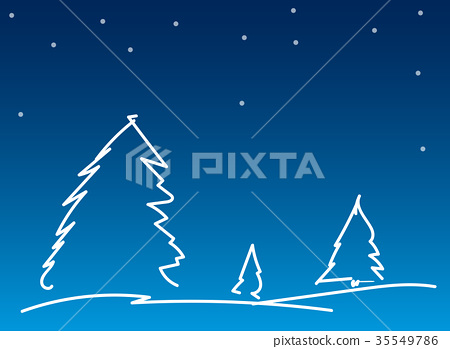 Simple Line Christmas background 35549786
