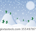 Illustration Winter Background-Vector Illustration 35549787