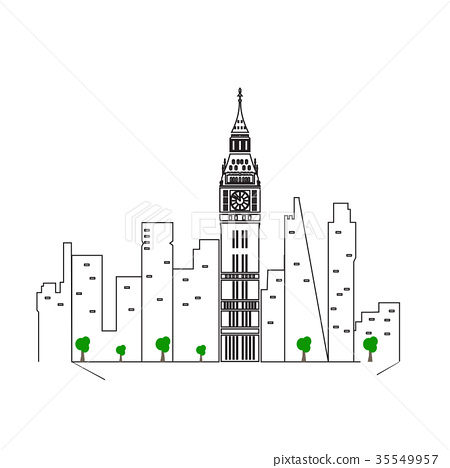Isolated London cityscape 35549957