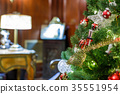 Decorated Christmas tree 35551954