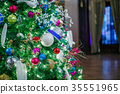 Decorated Christmas tree 35551965