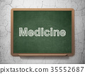 medical, concept, blackboard 35552687