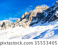 Panorama of snow mountain landscape 35553405