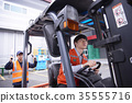 工業,工廠,叉車,工人 35555716