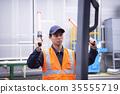 工業,工廠,叉車,工人 35555719
