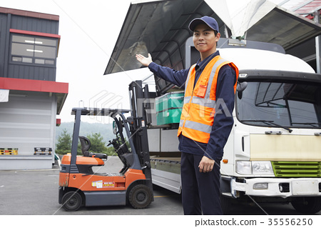 Industry, factory, forklift, worker 35556250