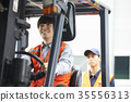 Industry, factory, forklift, worker 35556313