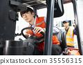 工業,工廠,叉車,工人 35556315