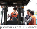 Industry, factory, forklift, worker 35556420