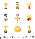 medal, award, icons 35558270
