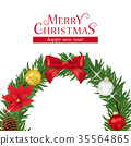 christmas, wreath, noel 35564865
