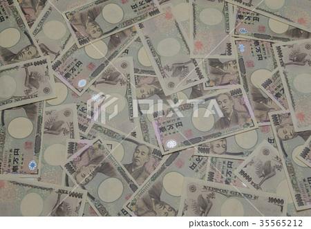 Large amount of ten thousand yen bill 35565212