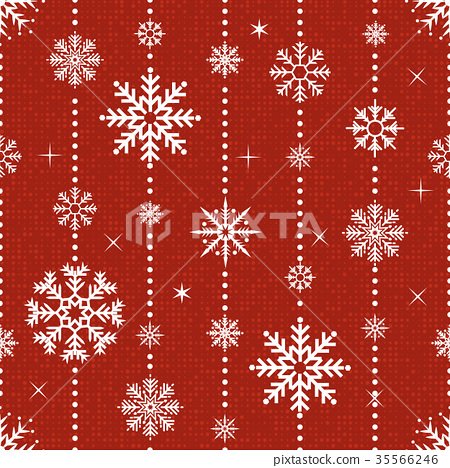 Vector seamless pattern with snowflakes.  35566246