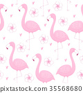 flamingo, background, bird 35568680