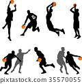 籃球 剪影 人影 35570055