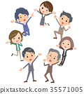 Business people_gather happy jump 35571005