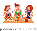 dinner, dinners, women's association 35571176
