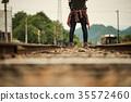 女子背包客去鐵路 35572460