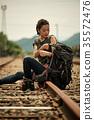 女子背包客去鐵路 35572476