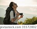 女背包客相機肖像 35572802