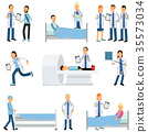 Flat vector characters set of medical workers and 35573034