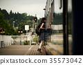 女子背包客家庭火車 35573042